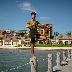 New Yoga Teacher Oscar Resendiz at Villa del Palmar Cancun
