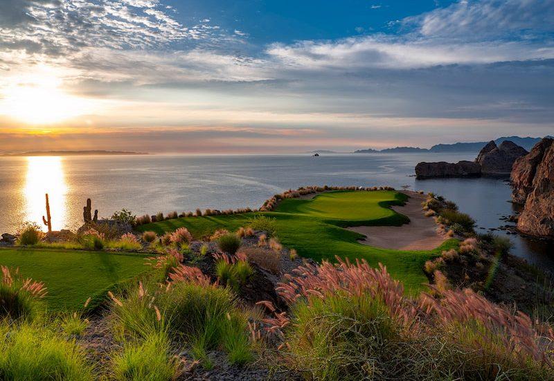 Sunset view from Danzante bay in Loreto Mexico