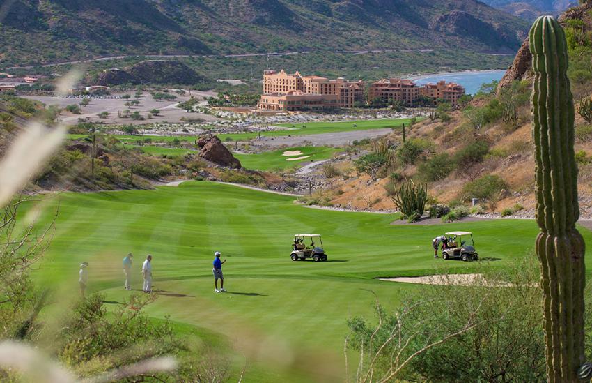 Playing golf at TPC Danzante Bay golf course in Loreto